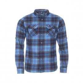 Chemise ajustée Superdry en coton à carreaux carreaux bleus, noirs et orange