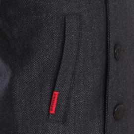Caban Superdry gris anthracite à motifs chevrons
