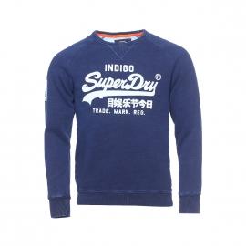 Sweat col rond Vintage Superdry bleu indigo imprimé