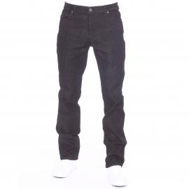 Jean droit Fygpoc TBS en coton noir à ceinture élastiquée