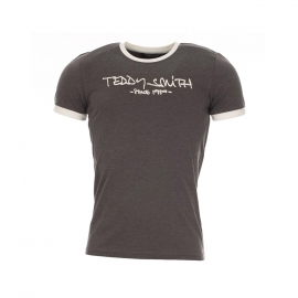 Tee-shirt Teddy Smith anthracite chiné floqué