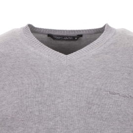 Pull Teddy Smith en coton gris clair