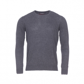 Pull léger col rond Punny 2 Teddy Smith gris anthracite chiné