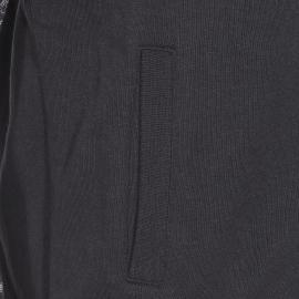 Sweat zippé à capuche The Fresh Brand noir avec manches à motifs cachemire gris clair
