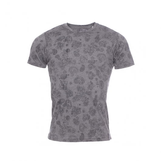 Tee shirt col rond the fresh brand en coton gris for Fresh brand t shirts