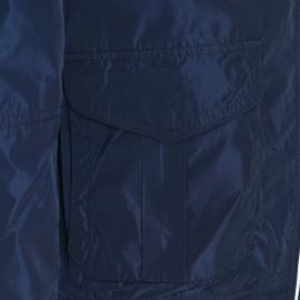 Blouson zippé Tommy Hilfiger bleu nuit à capuche dissimulée