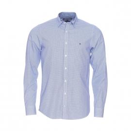 Chemise cintrée Tommy Hilfiger en coton blanc à pois bleus