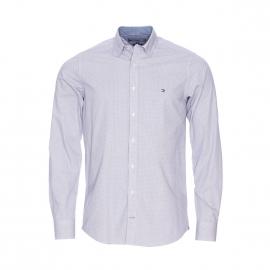 Chemise cintrée Tommy Hilfiger en coton blanc à pois gris