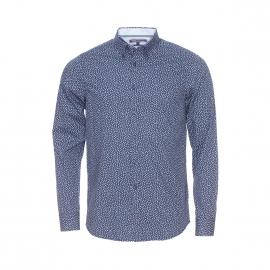 Chemise cintrée Tommy Hilfiger en coton bleu marine à motifs géométriques