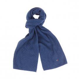 Echarpe Tommy Hilfiger en coton pima et cachemire bleu jean