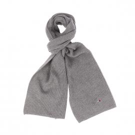 Echarpe Tommy Hilfiger en coton pima et cachemire gris chiné