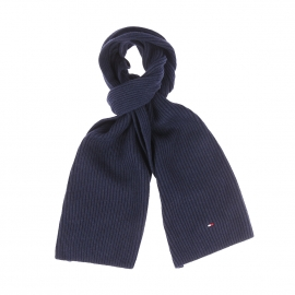 Echarpe Tommy Hilfiger en coton pima et cachemire bleu marine