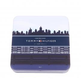 Coffret cadeau de 4 paires de chaussettes hautes Tommy Hilfiger dans les tons bleu marine