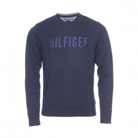 Sweat Tommy Hilfiger en mélange de coton bleu marine brodé