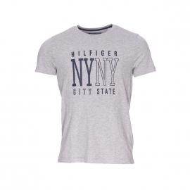 Tee-shirt Austin Tommy Hilfiger gris chiné à large flocage blanc