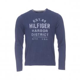 Tee-shirt manches longues Sid Tommy Hilfiger imprimé bleu marine