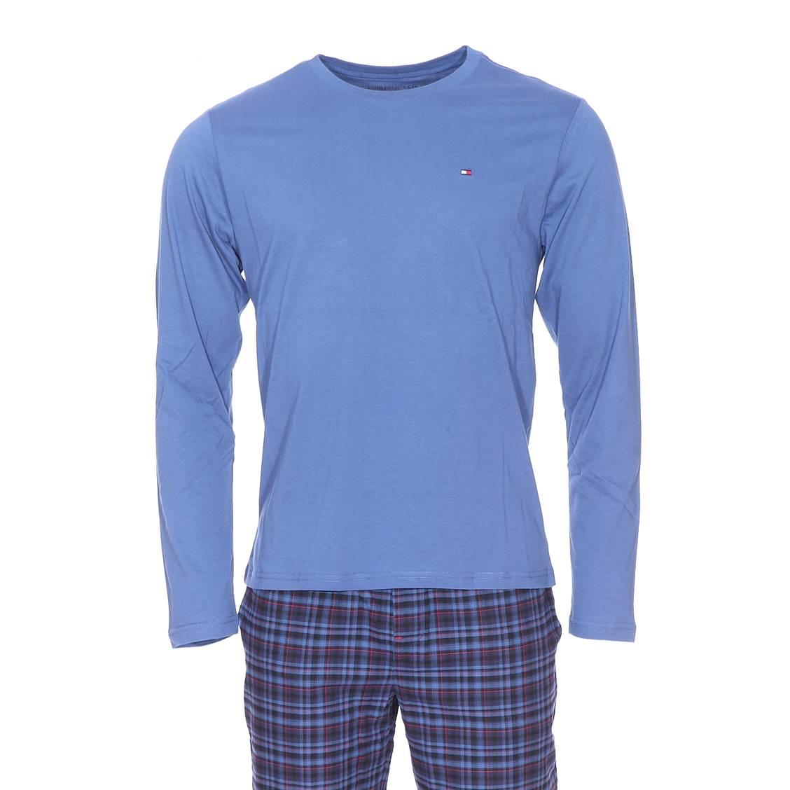 Pyjama long tommy hilfiger tee shirt manches longues for Pyjama a carreaux
