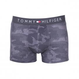 Boxer Tommy Hilfiger en coton stretch à motifs camouflages anthracite et gris