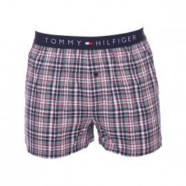 Caleçon Tommy Hilfiger en twill à carreaux bleu marine, rouges, blancs et verts