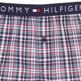 Pantalon d'intérieur Tommy Hilfiger en twill à carreaux bleu marine, rouges, blancs et verts