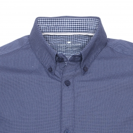 Chemise ajustée Tom Tailor bleu nuit à petits pois