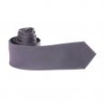 Cravate gris anthracite à rayures ton sur ton