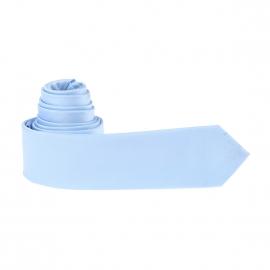 Cravate slim bleu ciel à rayures ton sur ton
