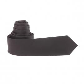 Cravate slim noire à rayures ton sur ton