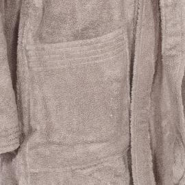 Peignoir de bain éponge Sydney Supersoft Vossen en coton gris à capuche