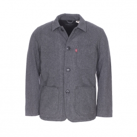 Veste Levi's Wool Engineer's coat en laine mélangée anthracite