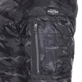 Bomber Riddick Schott N.Y.C matelassé noir camouflage