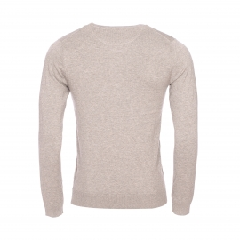 Pull col V Scotch & Soda en coton taupe chiné