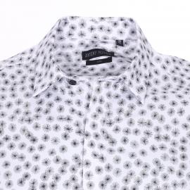 Chemise cintrée Antony Morato en coton blanc à motifs pissenlits noirs