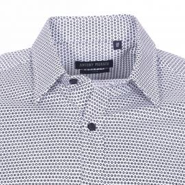 Chemise cintrée Antony Morato en coton blanc à ronds noirs