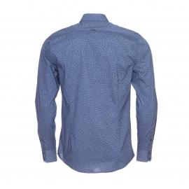 Chemise cintrée Antony Morato en coton bleu indigo à fleurs