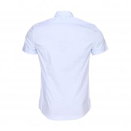 Chemise super slim manches courtes Antony Morato en coton stretch bleu ciel