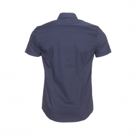 Chemise super slim manches courtes Antony Morato en coton stretch bleu marine
