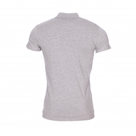 Polo Antony Morato en jersey de coton stretch gris chiné