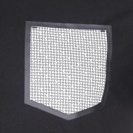 Tee-shirt col rond Antony Morato noir à poche blanche à motifs bleus