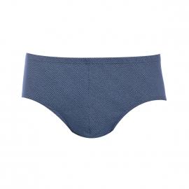 Slip Armor Lux en jersey de coton bleu marine à imprimé rayé bleu turquoise