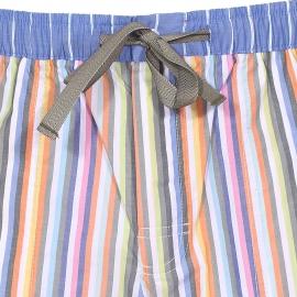 Bermuda de pyjama Arthur à rayures multicolores pastel