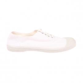 Baskets Bensimon à lacets en toile blanche