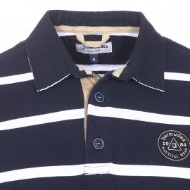 Polo Goodtime Bermudes en coton bleu marine à rayures blanches