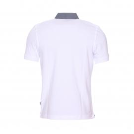 Polo Greystone Bermudes en piqué de coton blanc à col jean