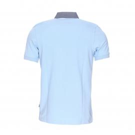 Polo Greystone Bermudes en piqué de coton bleu ciel à col jean
