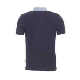 Polo Greystone Bermudes en piqué de coton bleu marine à col jean