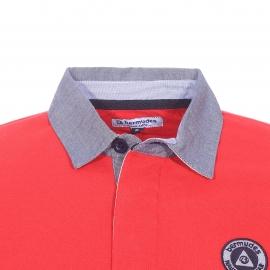 Polo Greystone Bermudes en piqué de coton rouge à col jean