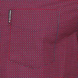 Chemise droite Ben Sherman en coton à carreaux rouges et bleu marine à pois blancs