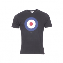 Tee-shirt col rond Ben Sherman en coton noir à imprimé cible
