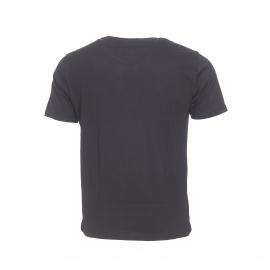 Tee-shirt col rond Ben Sherman en coton noir imprimé du drapeau américain